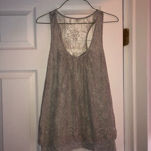 Express Tank - Lace Overlay
